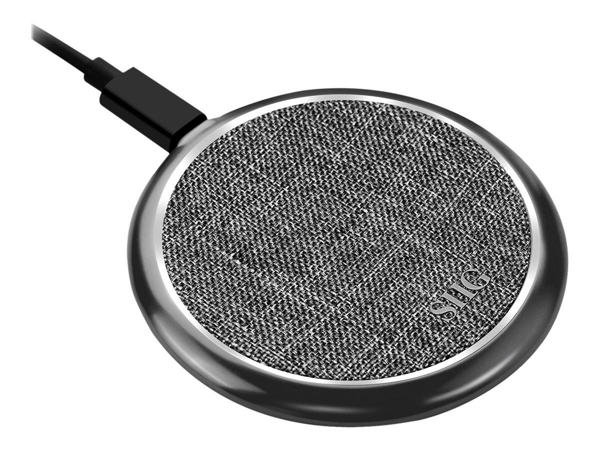 SIIG Premium Wireless Smartphone Charger Pad - Fabric wireless charging mat - 10 Watt