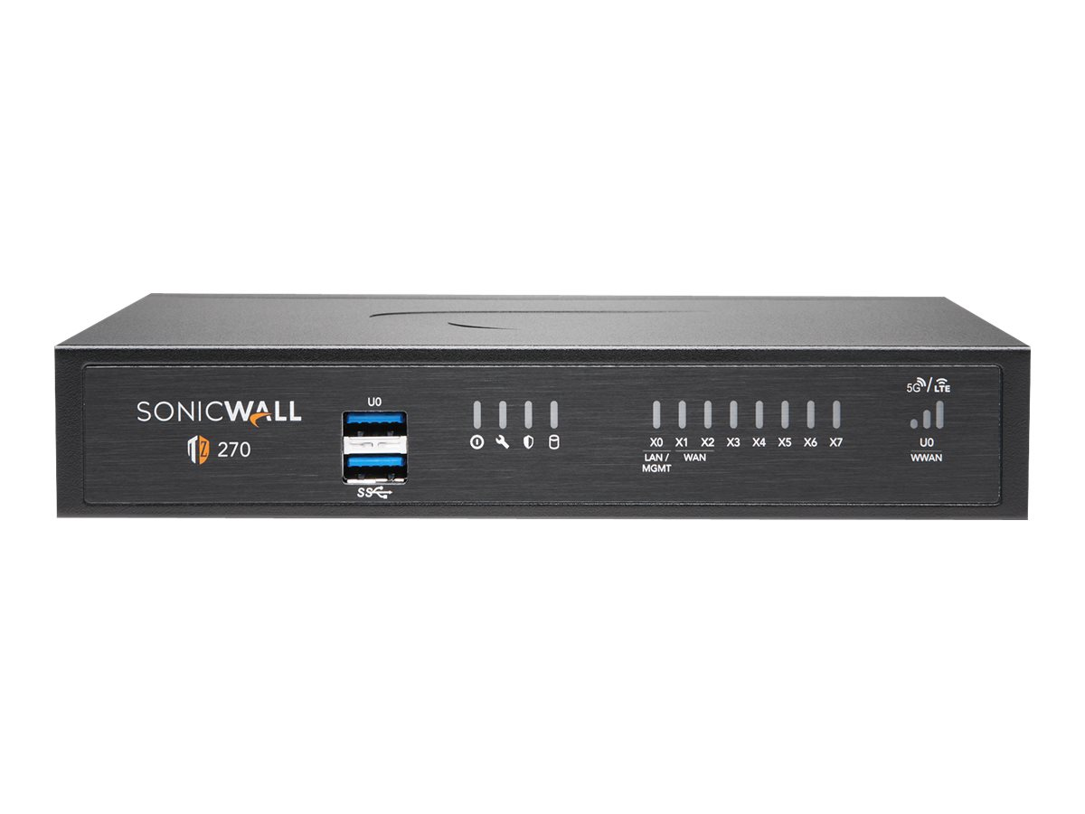 SonicWall TZ270 - Advanced Edition - security appliance - with 1 year TotalSecure