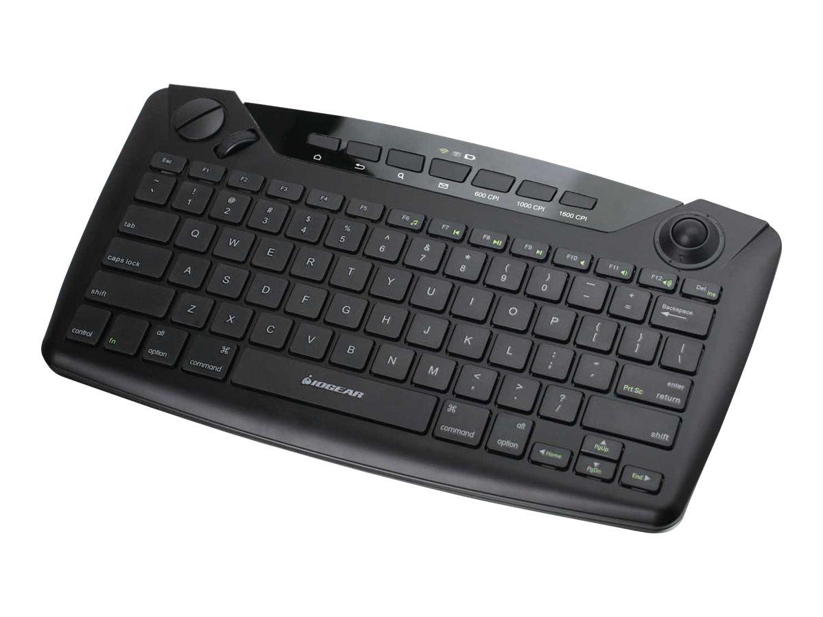 IOGEAR GKB635W - keyboard - with trackball, scroll wheel