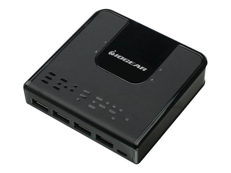 IOGEAR GUS434 - USB peripheral sharing switch - 4 ports