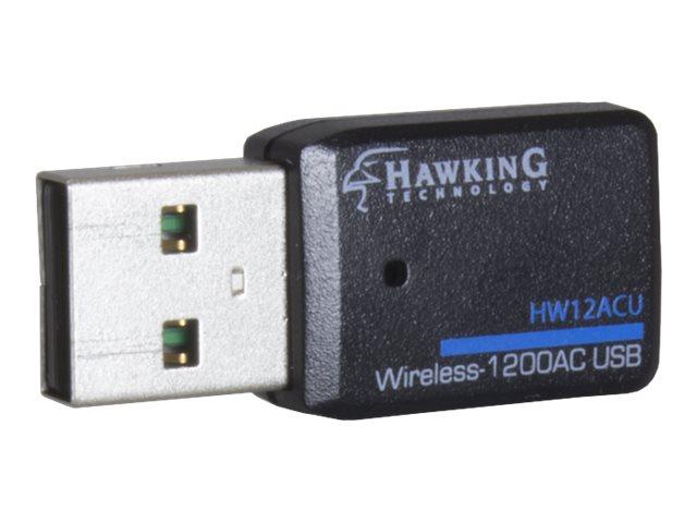 Hawking Wireless-1200AC USB Adapter HW12ACU - network adapter - USB 3.0