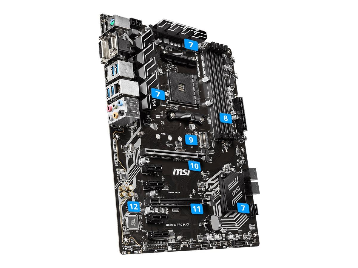 MSI B450-A PRO MAX - motherboard - ATX - Socket AM4 - AMD B450