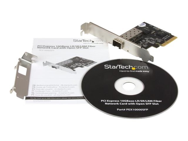 StarTech.com 10Gb SFP+ Network Card - PCIe 10 Gigabit Ethernet Fiber Network Card w/ Open SFP+ - PCIe x4 10Gb NIC SFP+ Card (PEX10000SFP) - network adapter - PCIe 2.0 x4