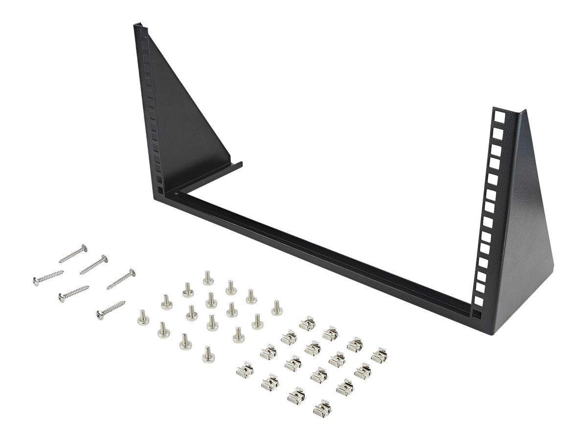 StarTech.com 5U Vertical Wall Mount Rack - 19in Low Profile Open Wall Mounting Bracket - Network/Server Room/Data/AV/IT/Patch Panel/Communication/Computer Equipment - w/ Cage Nuts/Screws rack - 5U