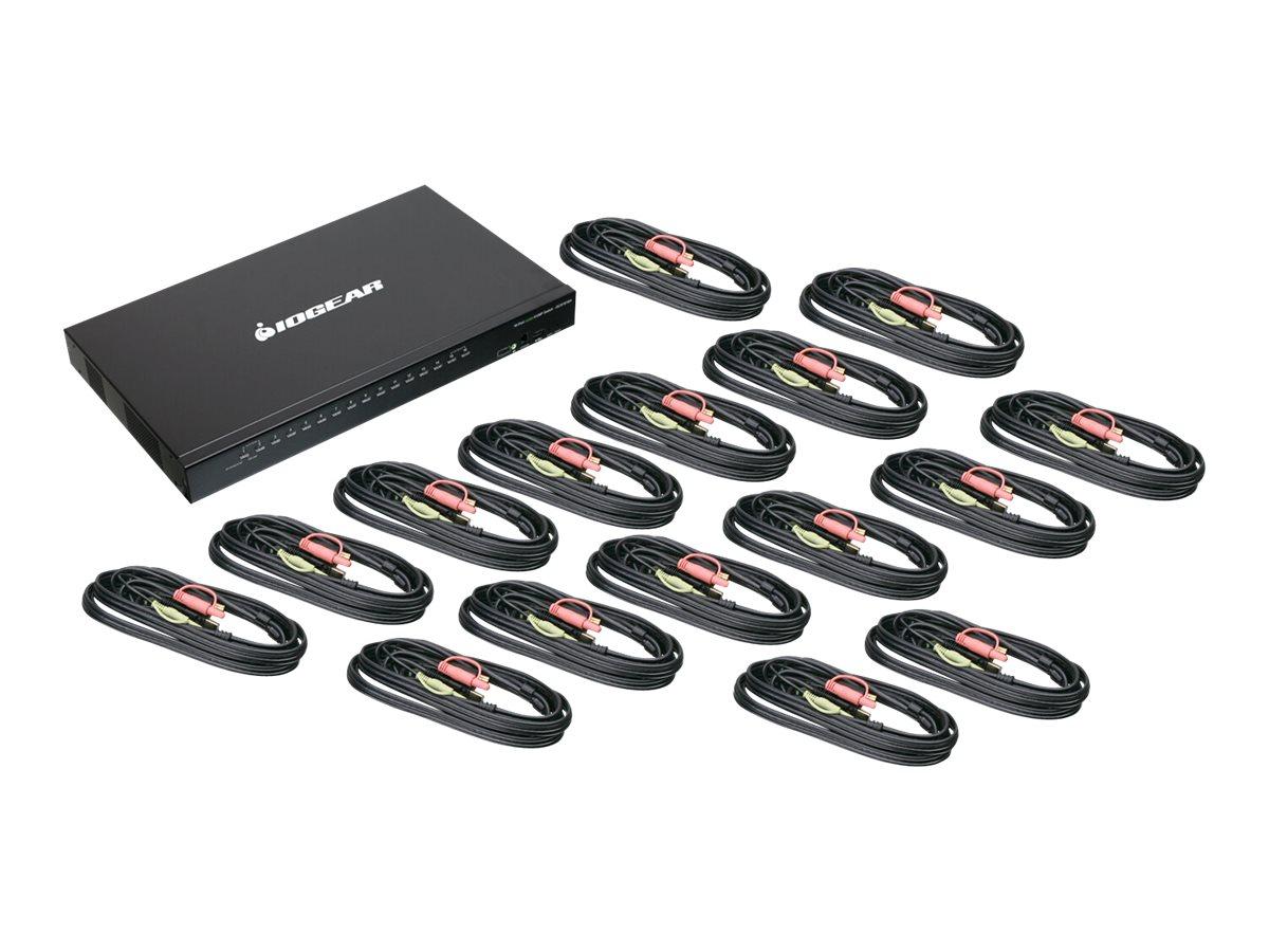 IOGEAR GCS1816HKITU 16-Port USB HDMI KVMP Switch - USB KVM (HDMI) / audio cable set - KVM / audio / USB switch - 16 ports