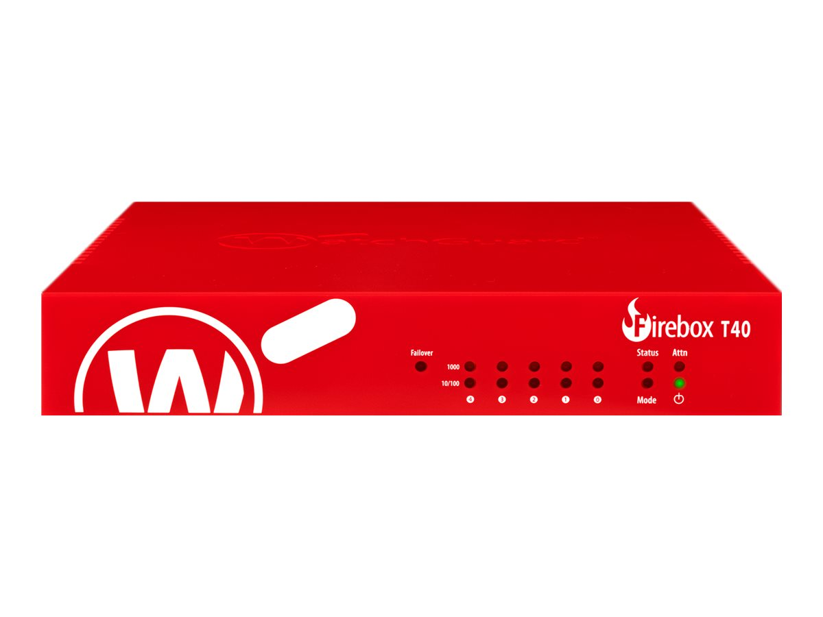 WatchGuard Firebox T40 - security appliance - WatchGuard Trade-Up Program - with 1 year Total Security Suite