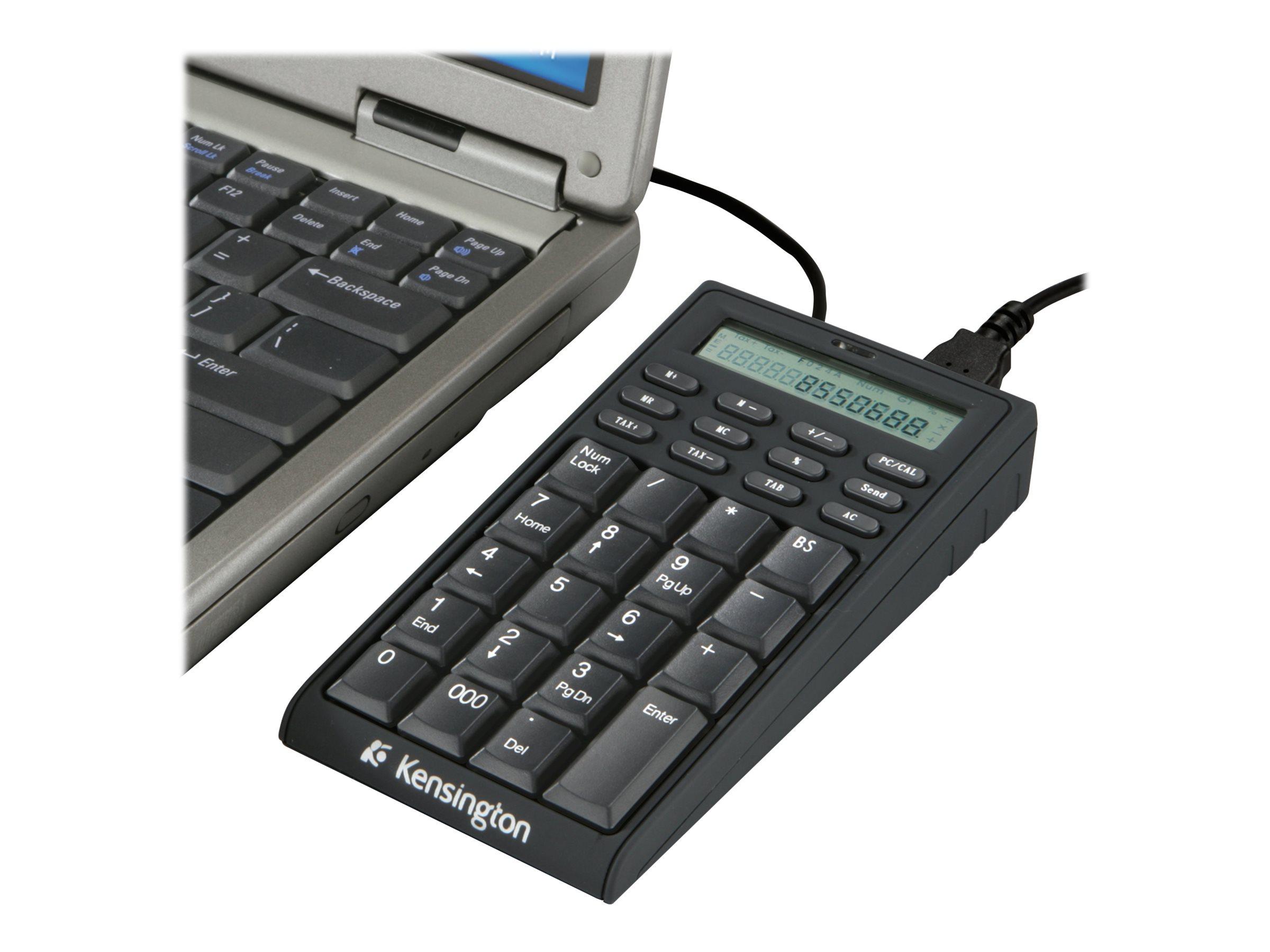 Kensington Notebook Keypad/Calculator with USB Hub - keypad - US - black