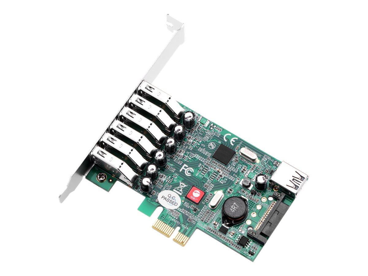 SIIG JU-P70011-S1 - USB adapter - PCIe 2.0 - USB 3.0 x 6 + USB 3.0 (internal) x 1
