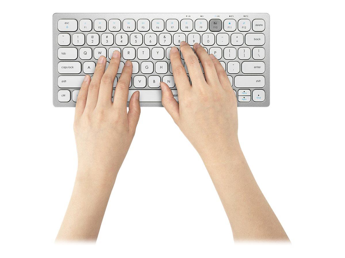 Kensington Multi-Device Dual Wireless Compact Keyboard - keyboard - US - silver