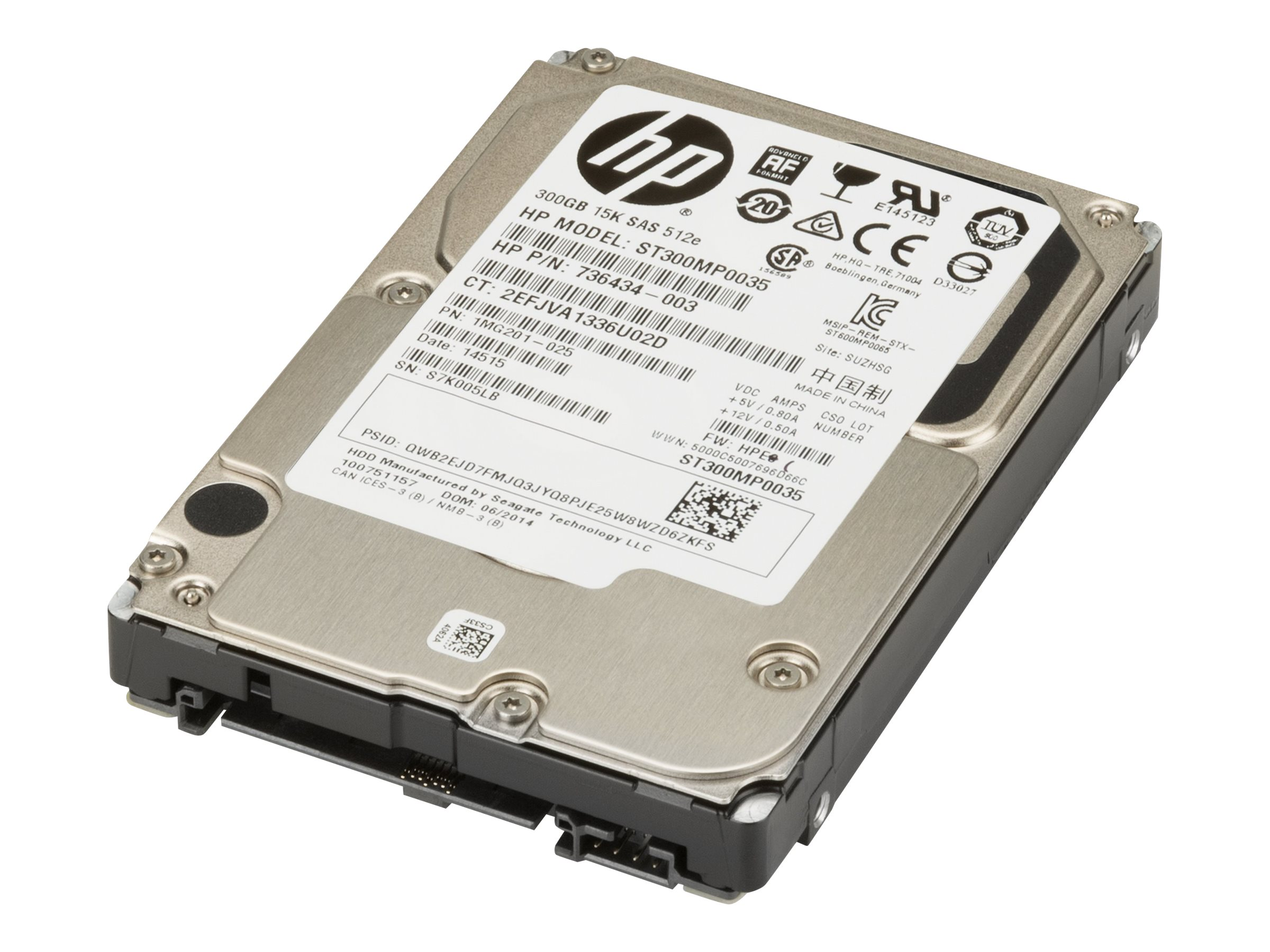 HP Enterprise - hard drive - 300 GB - SAS 6Gb/s