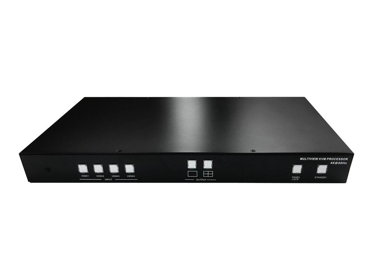 SIIG Quad-View HDMI 2.0 4K 60Hz KVM MultiView Processor - KVM / USB switch