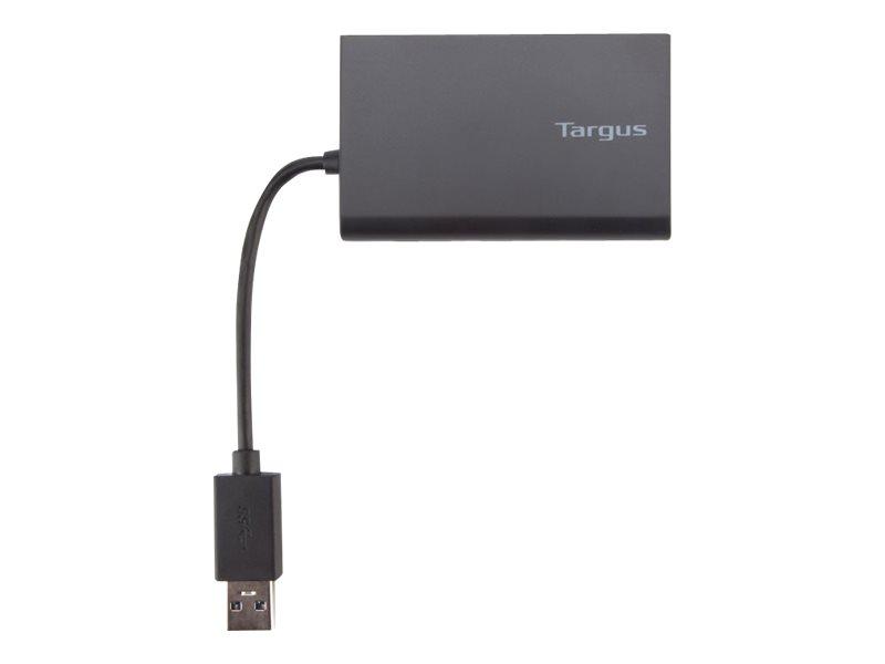 Targus USB 3.0 Hub With Gigabit Ethernet - hub - 4 ports