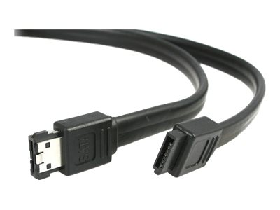 StarTech.com 6 ft Shielded eSATA to SATA Cable - SATA to eSATA cable - SATA (R) to eSATA (R) - 6 ft - black - SATA2ESATA6 - SATA to eSATA cable - 6 ft