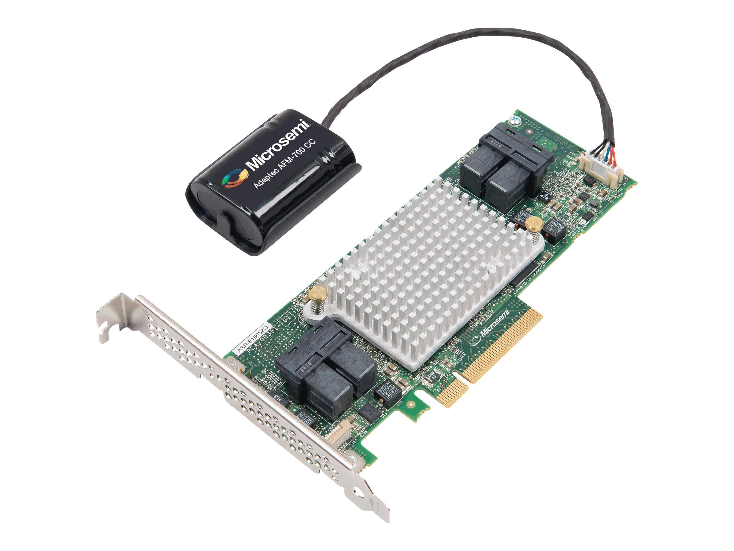 Microchip Adaptec 81605ZQ - storage controller (RAID) - SATA 6Gb/s / SAS 12Gb/s - PCIe 3.0 x8