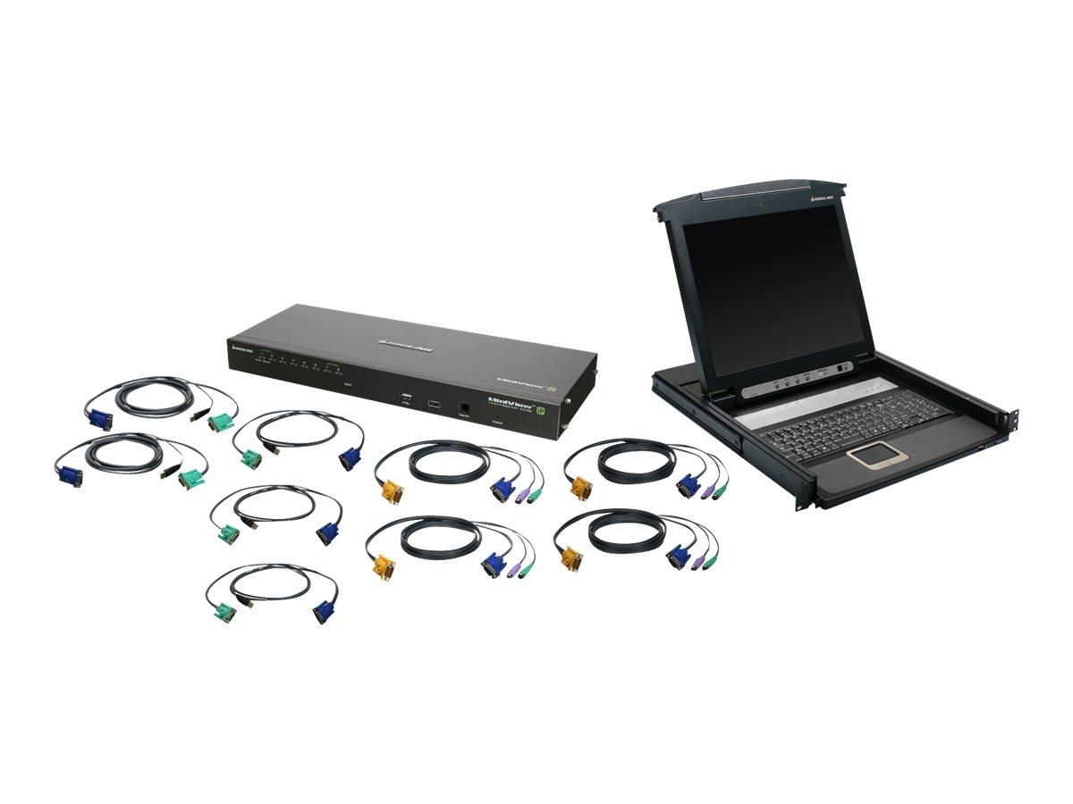 IOGEAR 8-Port IP Based KVM GCL1808iKIT - KVM console - 17