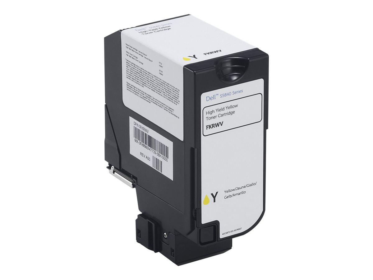 Dell - yellow - original - toner cartridge - Use and Return