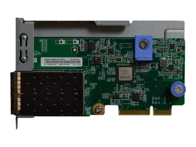 Lenovo ThinkSystem - network adapter - LAN-on-motherboard (LOM) - 10 Gigabit SFP+ x 2