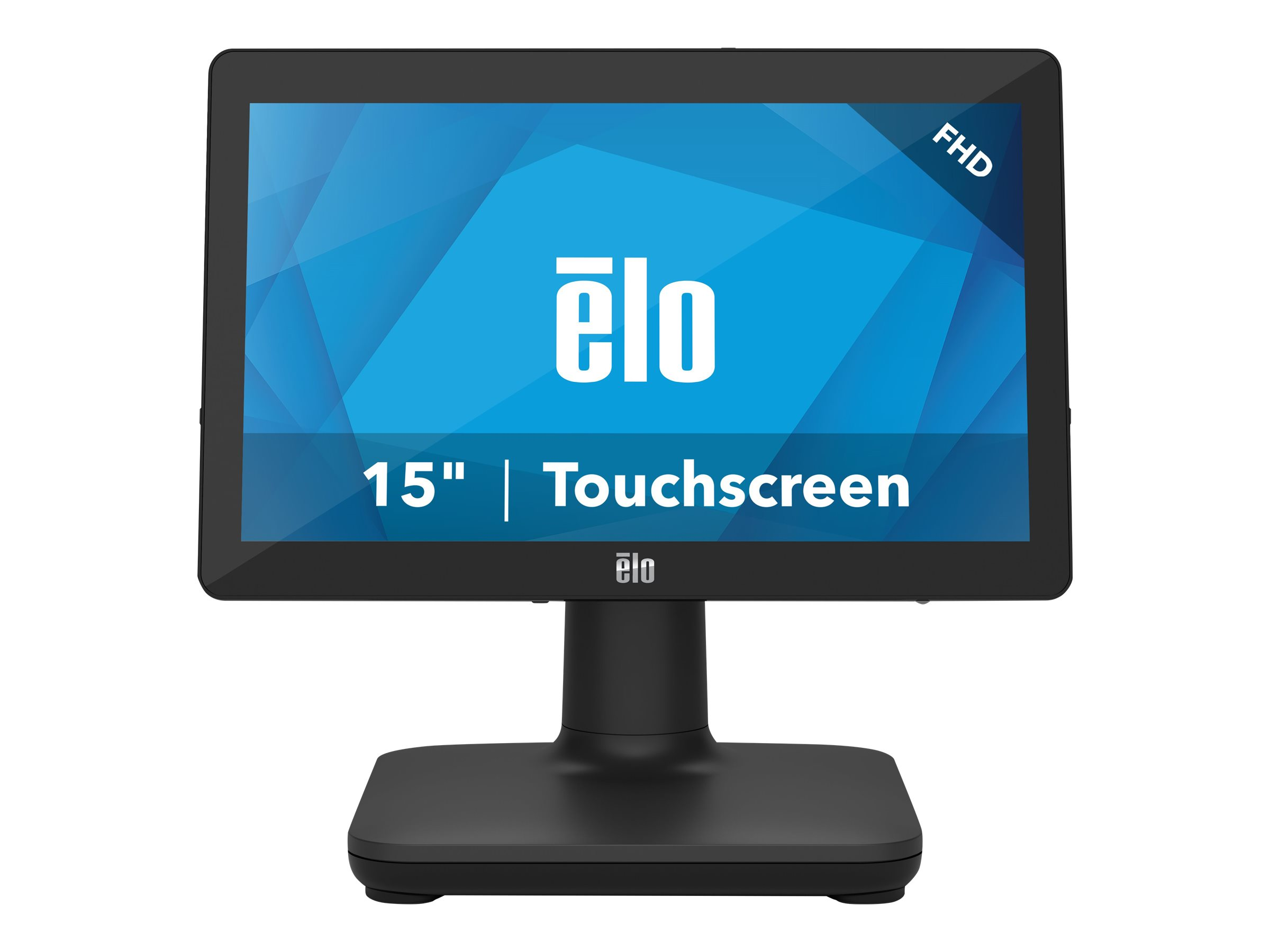 EloPOS System - with I/O Hub Stand - all-in-one - Core i5 8500T 2.1 GHz - 16 GB - SSD 256 GB - LED 15.6
