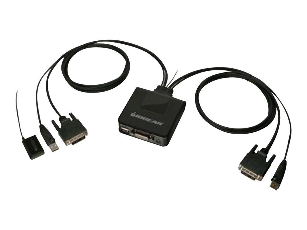 IOGEAR 2-Port USB DVI Cable KVM Switch GCS922U - KVM switch - 2 ports