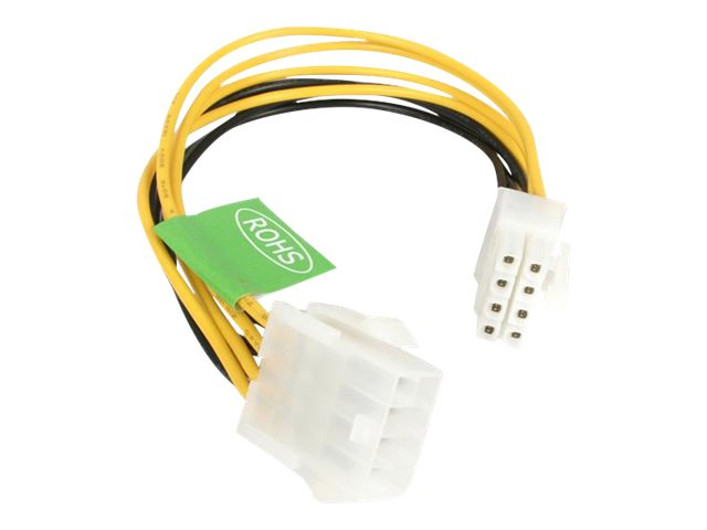 StarTech.com EPS 8 Pin Power Extension Cable - Power extension cable - 8 pin EPS12V (F) to 8 pin EPS12V (M) - 7.9 in - EPS8EXT - power extension cable - 8 pin EPS12V to 8 pin EPS12V - 7.9 in