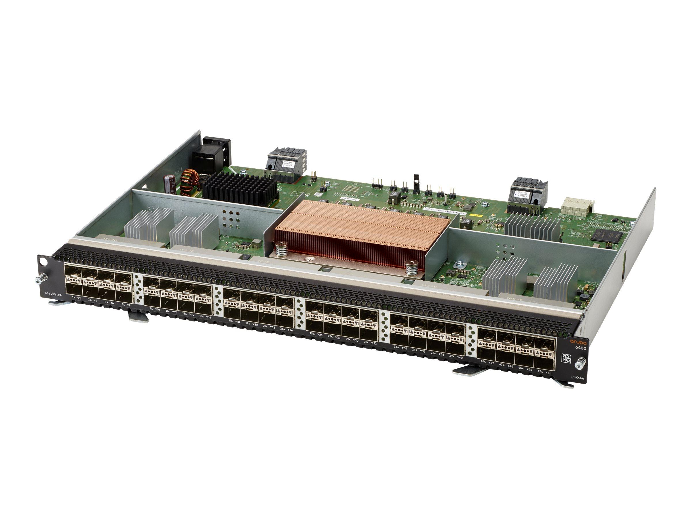HPE Aruba Line Module - expansion module - 25 Gigabit SFP28 x 48