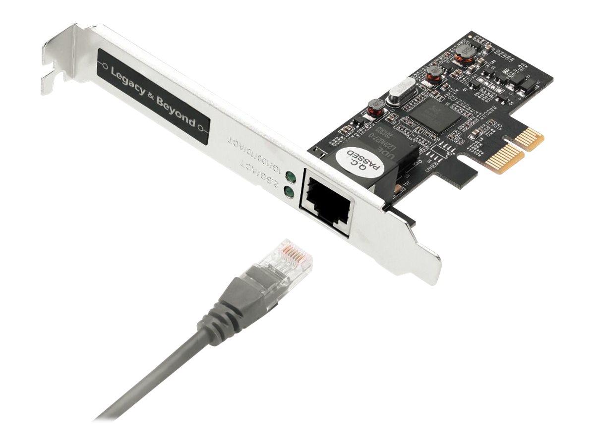 SIIG Single 2.5G 4-Speed Multi-Gigabit Ethernet PCIe Card - network adapter - PCIe 2.1 - 10M/100M/1G/2.5 Gigabit Ethernet