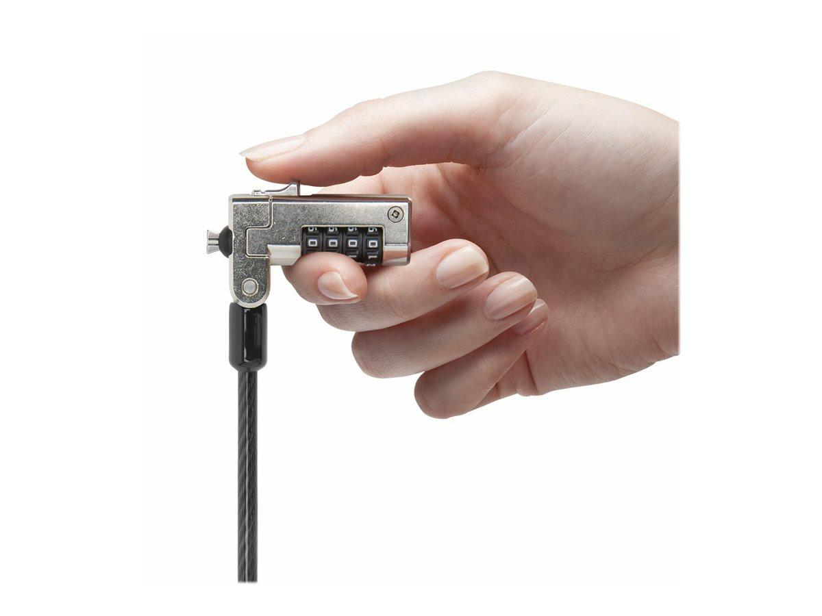 Kensington Slim N17 Combination Laptop Lock for Wedge-Shaped Slot security cable lock