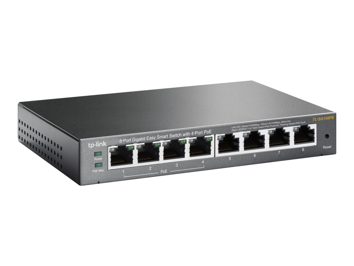 TP-Link Easy Smart TL-SG108PE - switch - 8 ports - smart