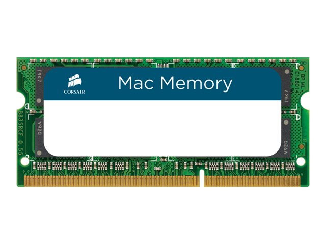 CORSAIR Mac Memory - DDR3 - kit - 16 GB: 2 x 8 GB - SO-DIMM 204-pin - 1333 MHz / PC3-10600 - unbuffered