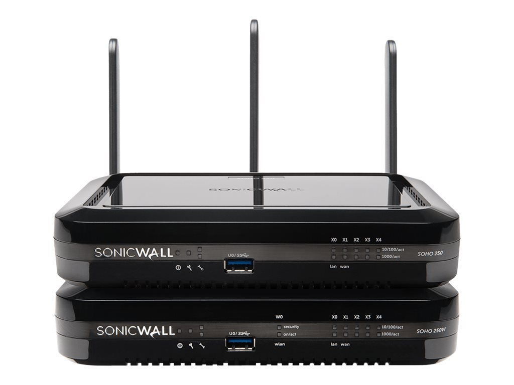 SonicWall SOHO 250 - security appliance - with 1 year TotalSecure