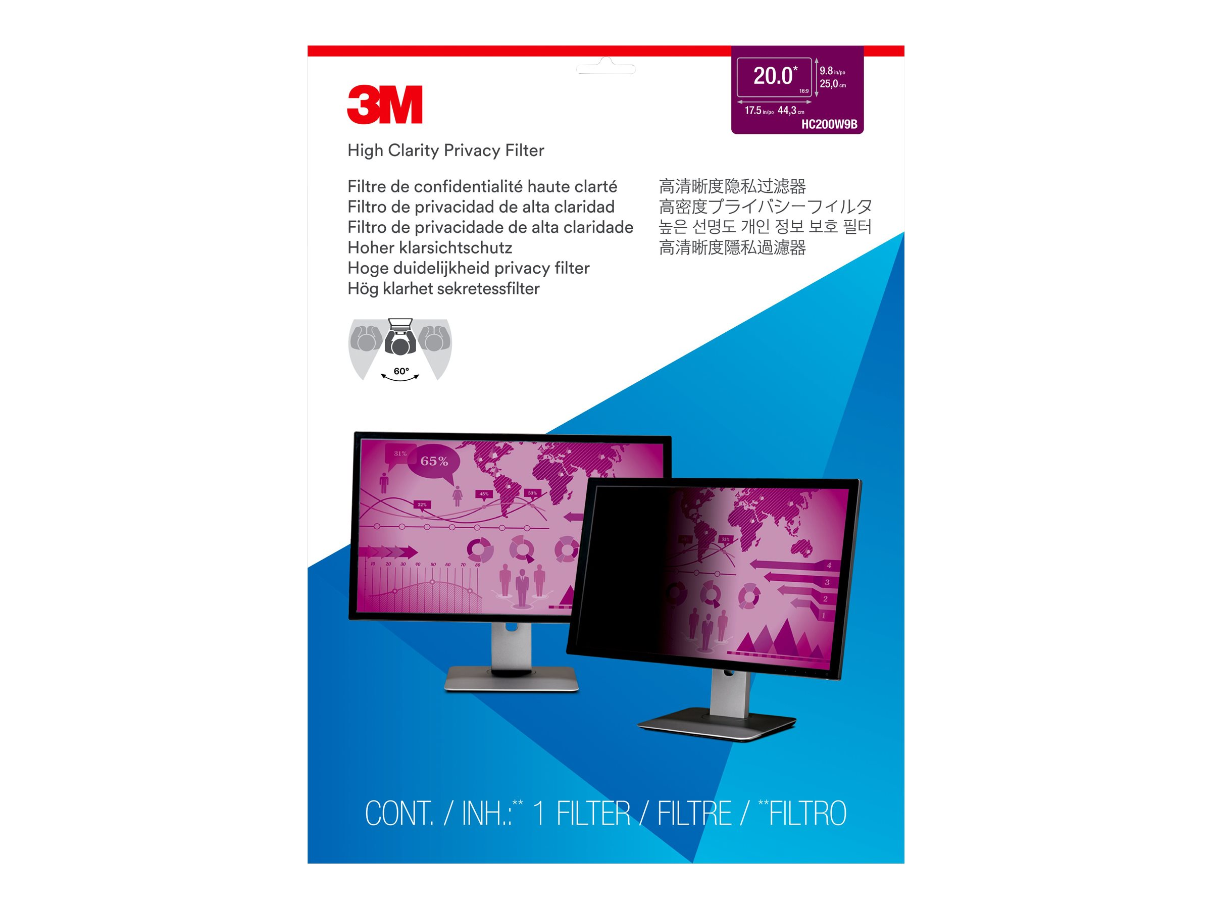 3M High Clarity Privacy Filter for 20