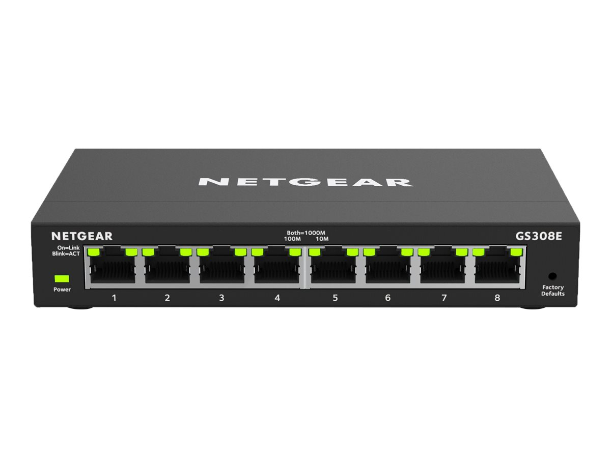 NETGEAR Plus GS308E - switch - 8 ports - managed