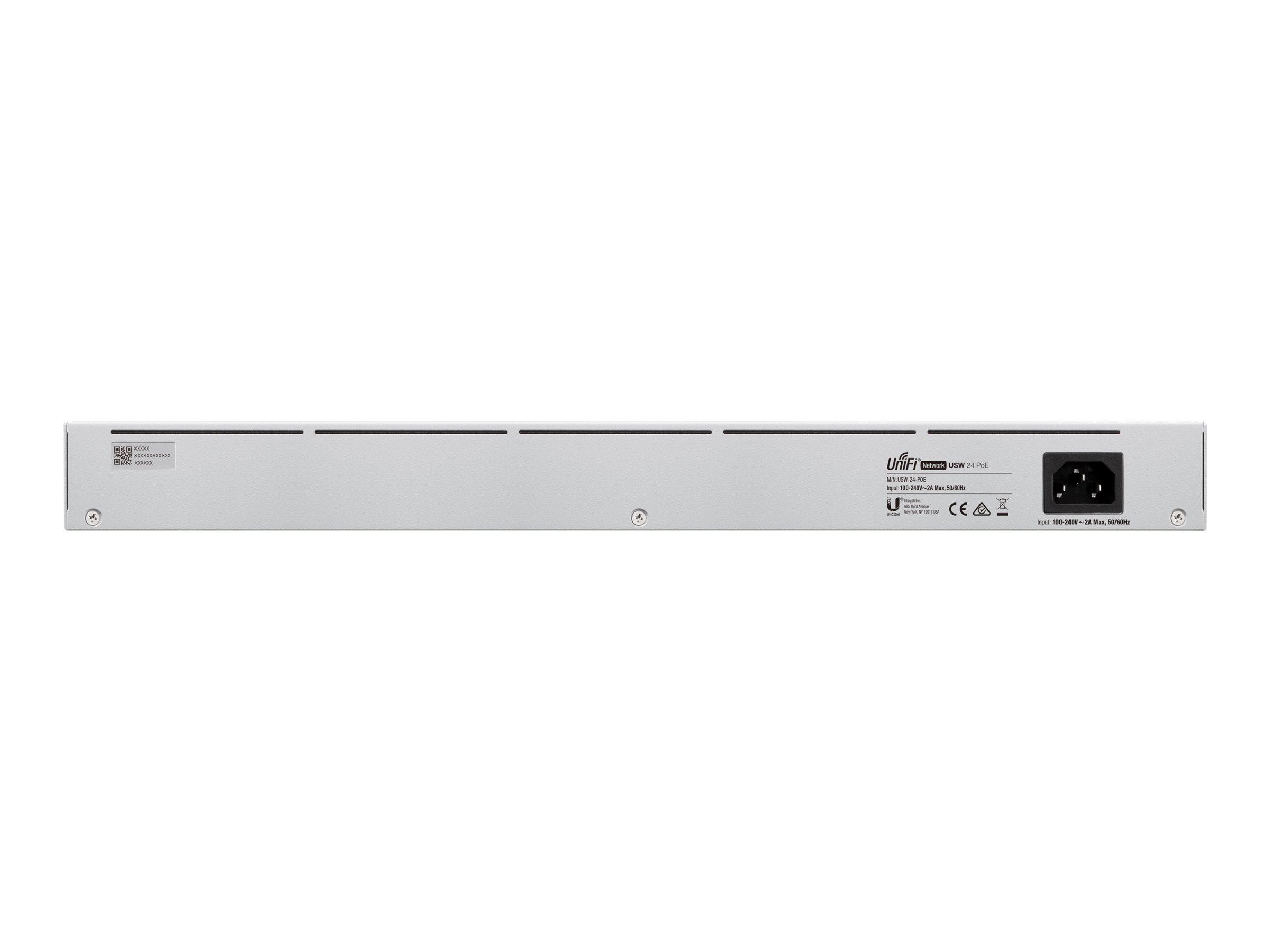 Ubiquiti UniFi Switch USW-24-POE - switch - 24 ports - managed - rack-mountable