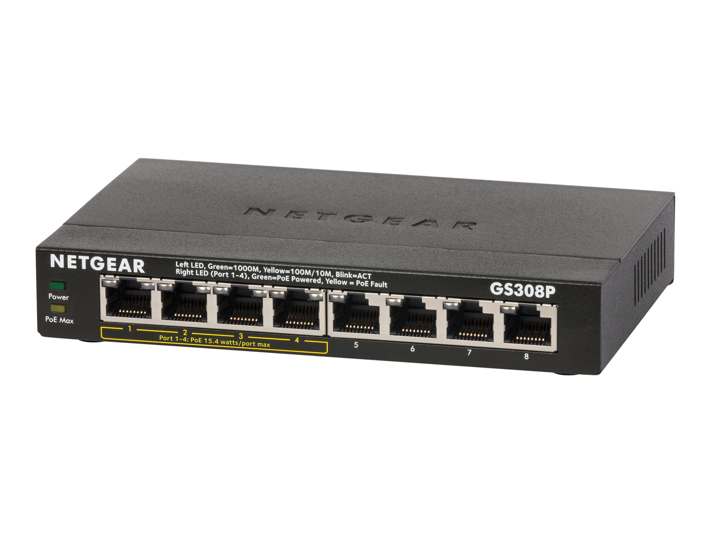 NETGEAR SOHO Gigabit Ethernet Switch GS308P - switch - 8 ports - unmanaged