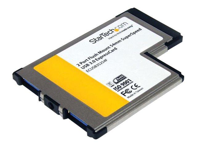 StarTech.com 2 Port Flush Mount ExpressCard 54mm S...