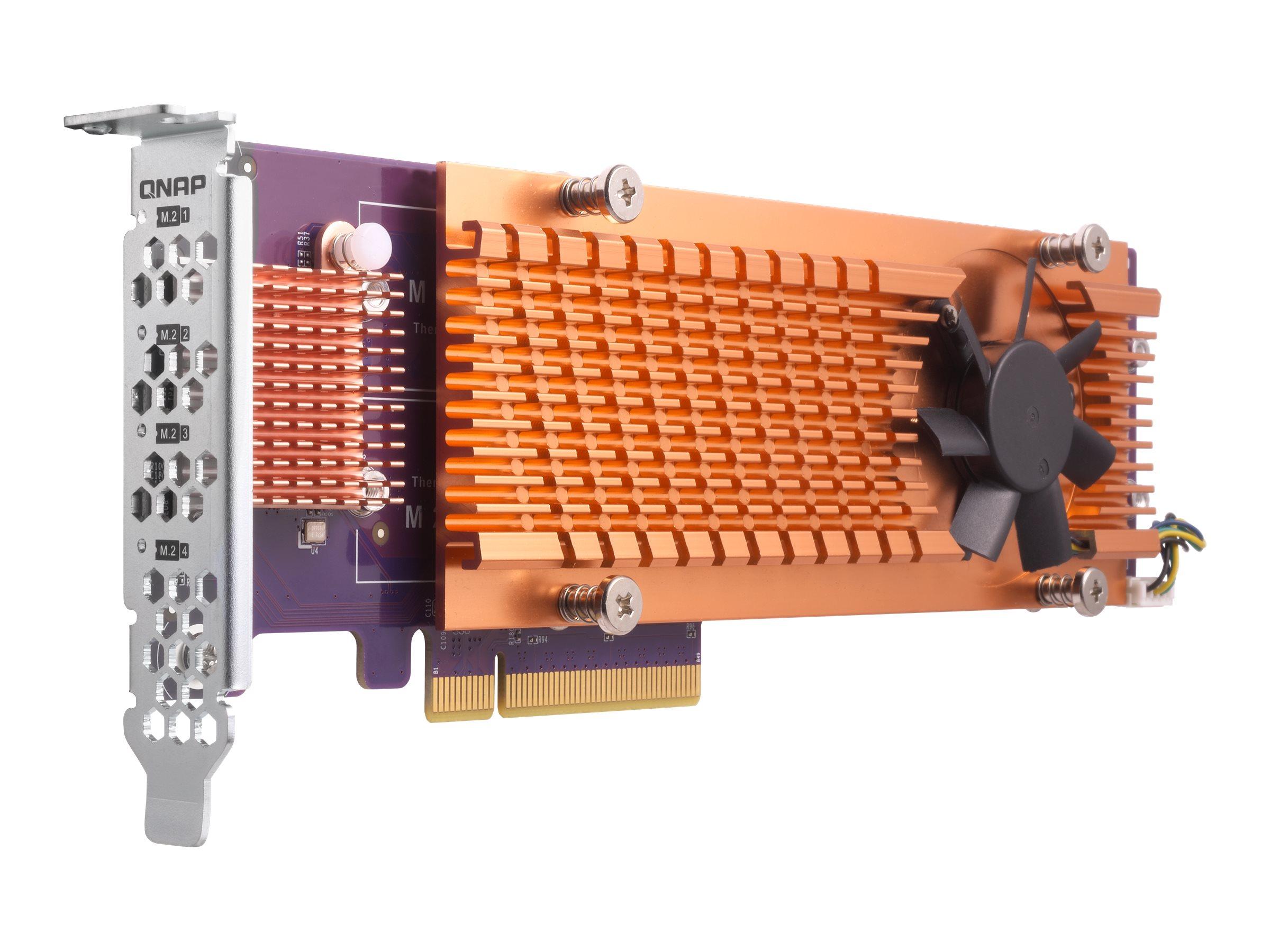 QNAP QM2-4P-384 - storage controller - PCIe 3.0 - PCIe 3.0 x8