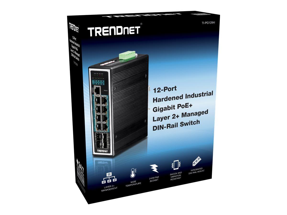 TRENDnet TI-PG1284I - switch - 12 ports - managed