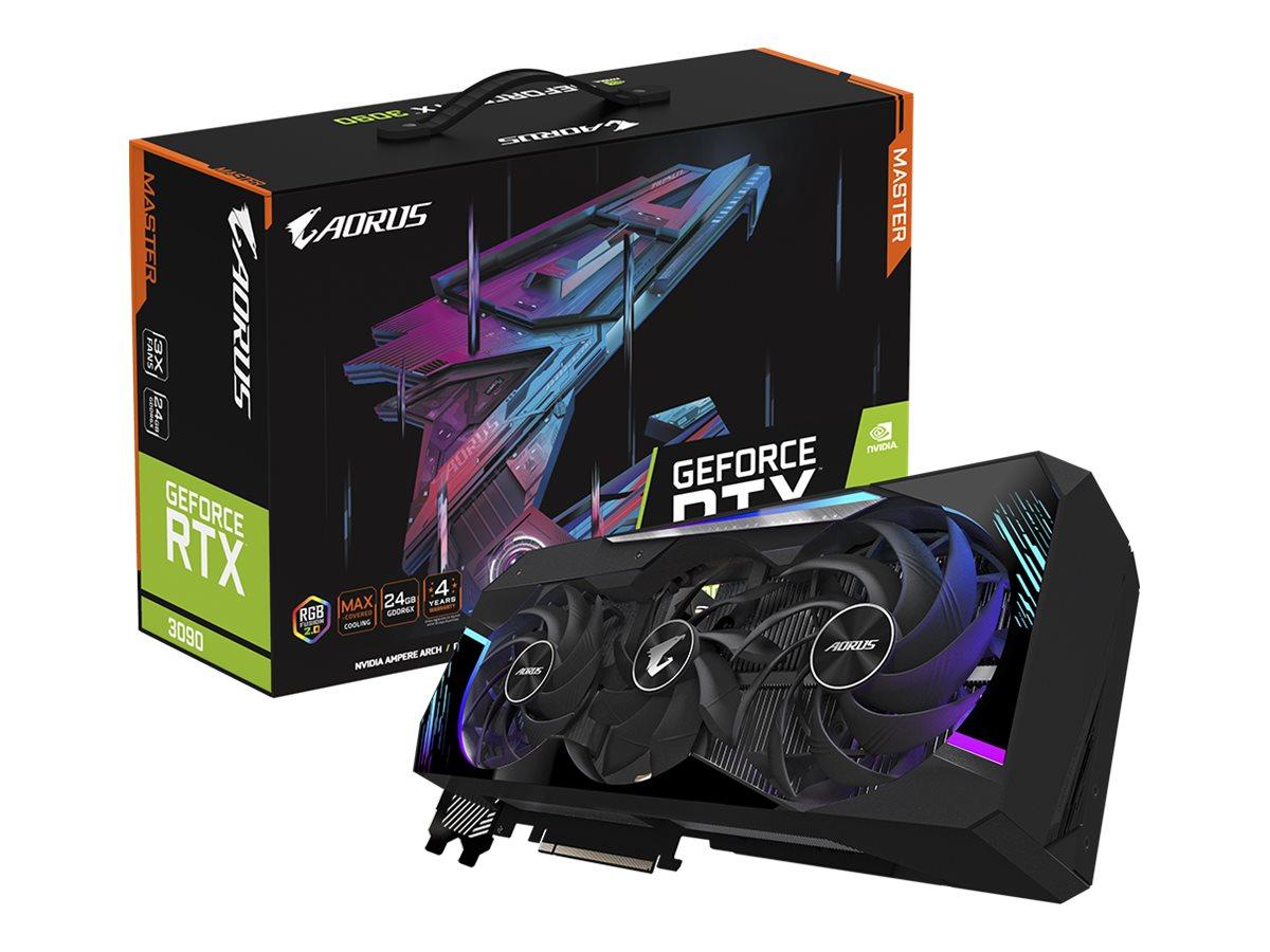 Gigabyte AORUS GeForce RTX 3090 MASTER 24G - graphics card - GF RTX 3090 - 24 GB