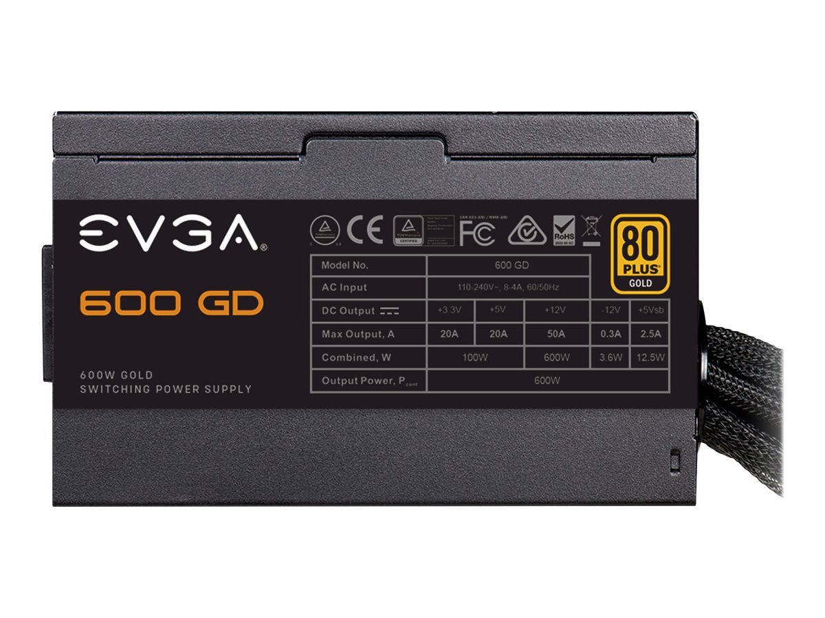 EVGA 600 GD - power supply - 600 Watt