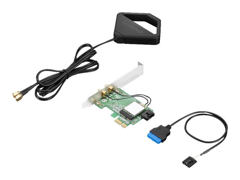 Lenovo ThinkStation AC Wi-Fi Solution Intel 8265 with External Antenna Kit - network adapter