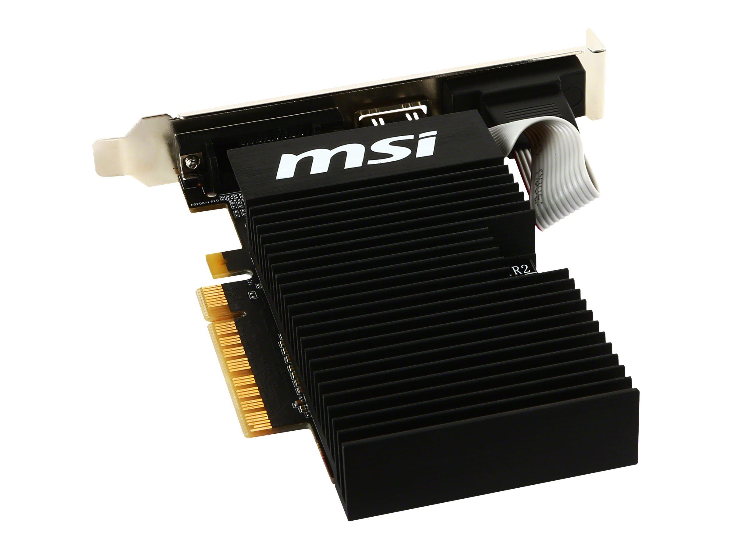 MSI GT 710 1GD3H LPV1 - graphics card - GF GT 710 - 1 GB