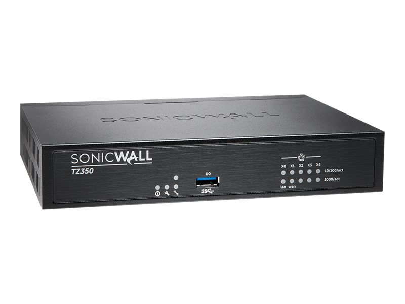 SonicWall TZ350 - security appliance - with 3 years TotalSecure Advanced Edition