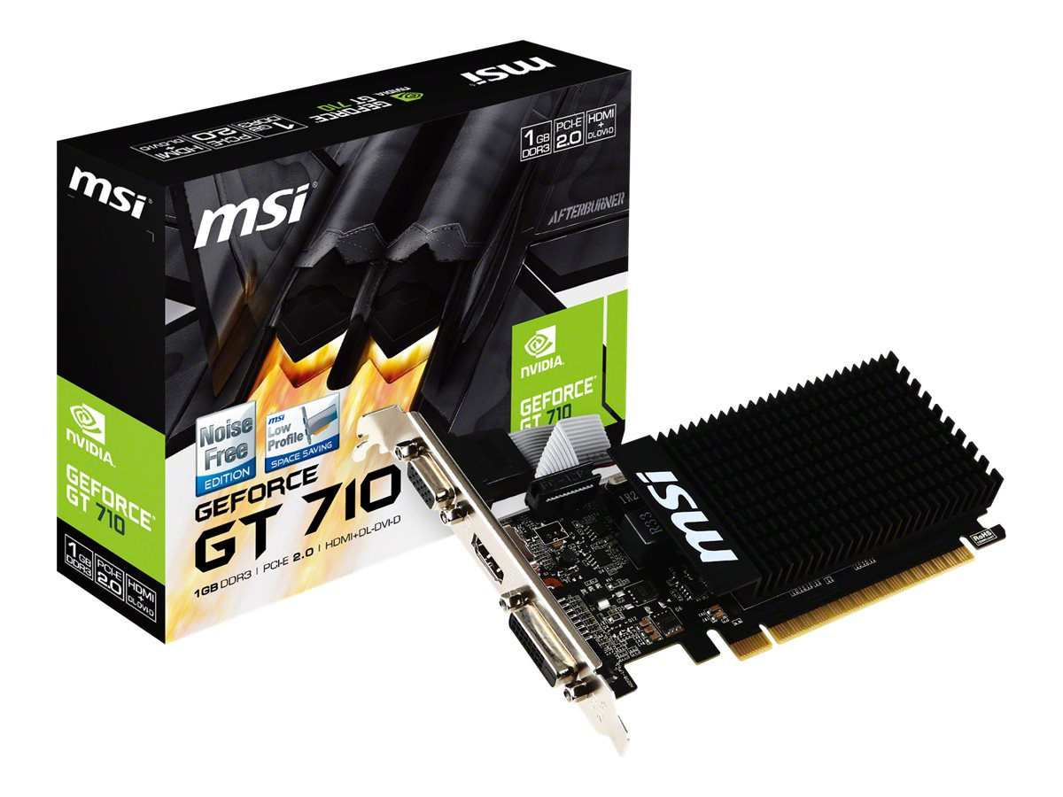 MSI GT 710 1GD3H LP - graphics card - GF GT 710 - 1 GB