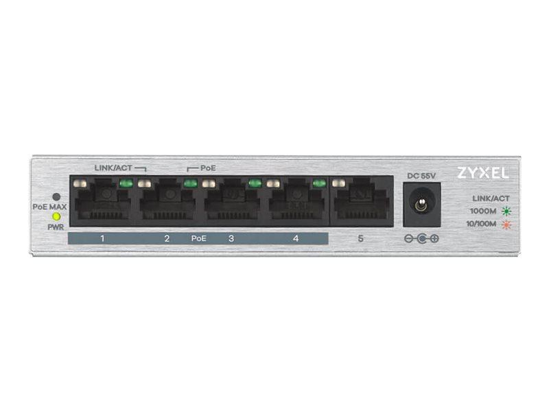Zyxel GS1005HP - switch - 5 ports