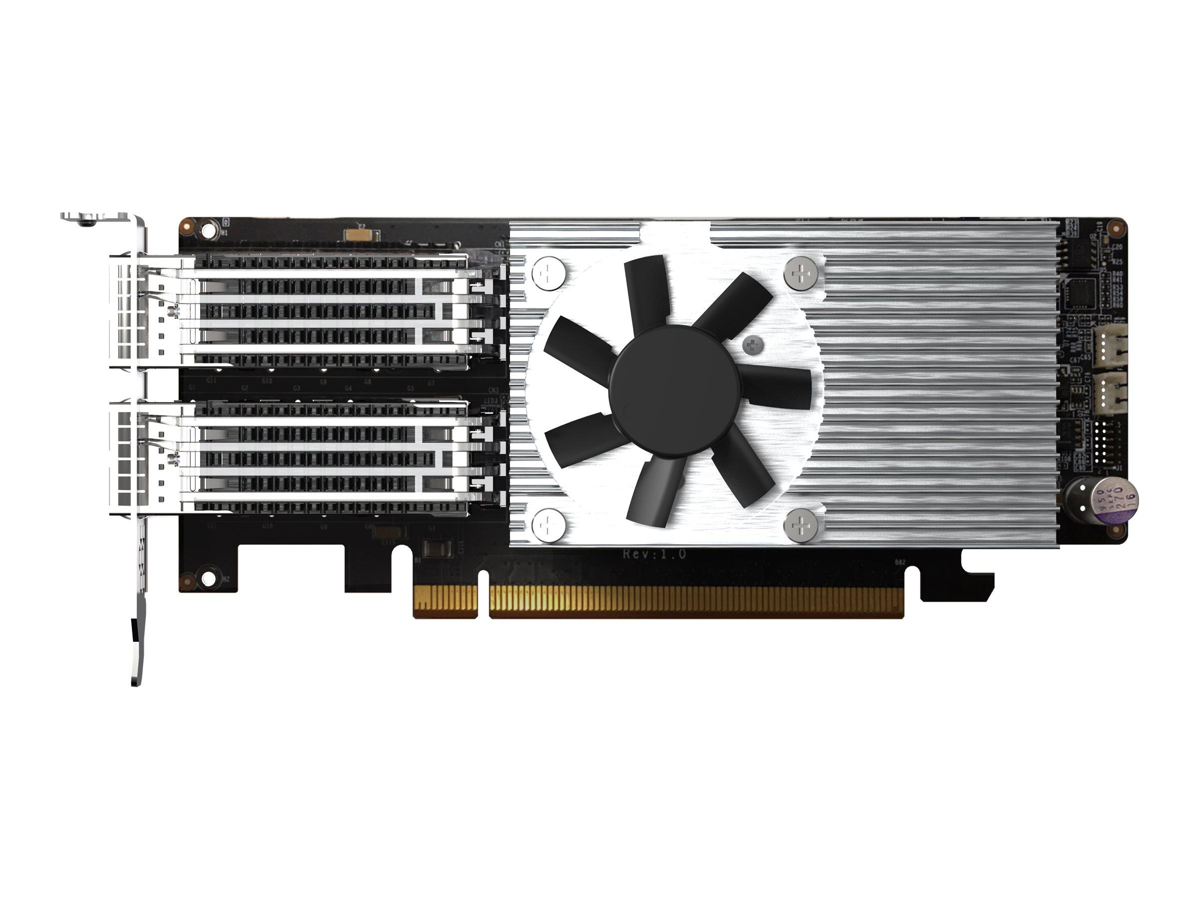 QNAP QXG-100G2SF-E810 - network adapter - PCIe 4.0 x16 - 100 Gigabit QSFP28 x 2