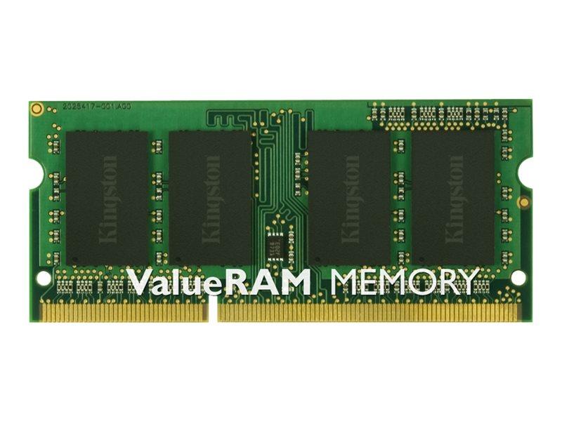 Kingston ValueRAM - DDR3 - module - 8 GB - SO-DIMM 204-pin - 1600 MHz / PC3-12800 - unbuffered