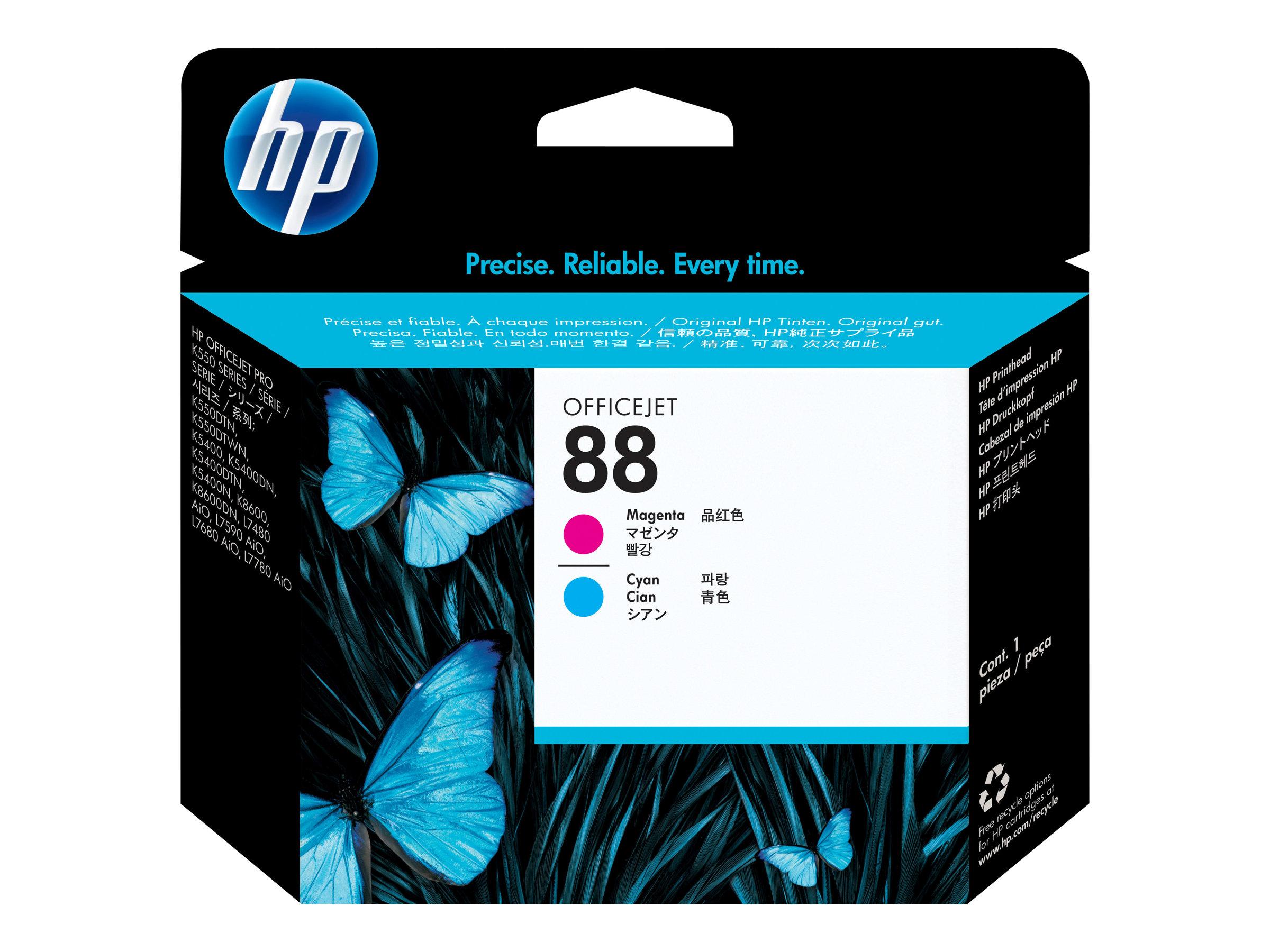 HP 88 - cyan, magenta - printhead...