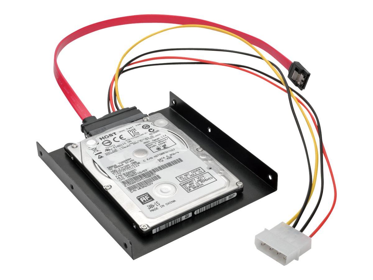 Tripp Lite 2.5 Inch SATA Hard Drive to 3.5 Inch Drive Bay Mounting Kit - storage bay adapter