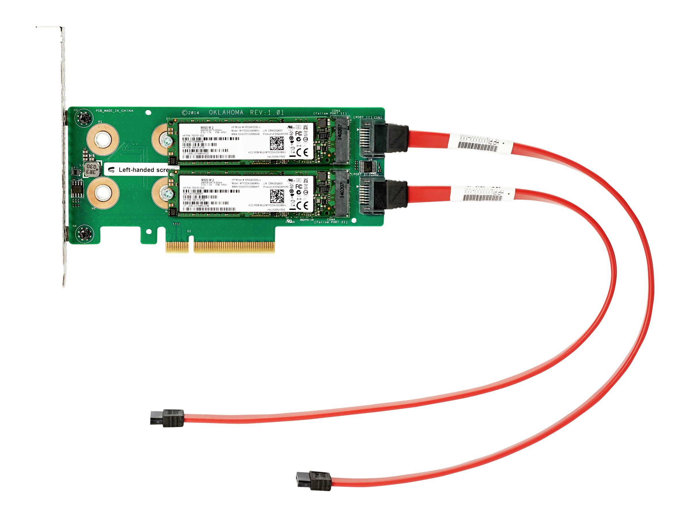 HPE Universal SATA HHHL M.2 Kit - interface adapter - M.2 Card - PCIe