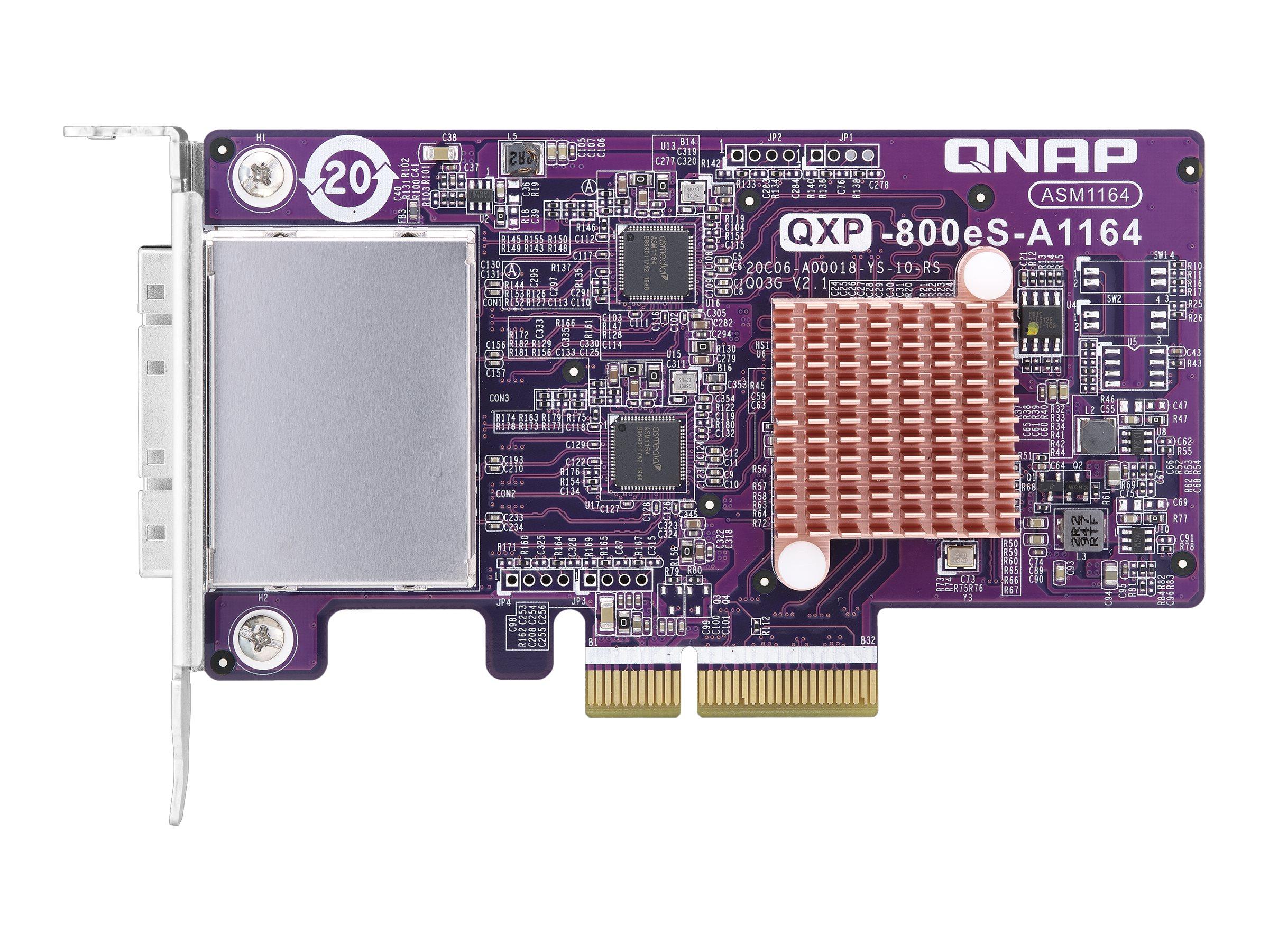 QNAP QXP SATA Expansion Card - storage controller - SATA 6Gb/s / SAS 6Gb/s - PCIe 3.0 x4